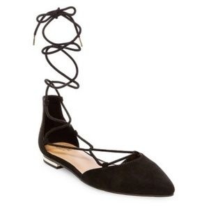 Mossimo Supply Co. Black Pointy Toe Lace Up Sandal